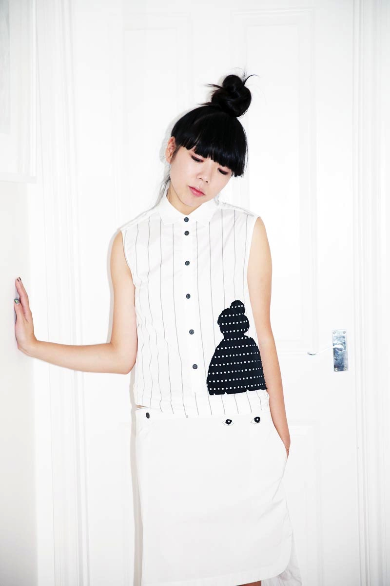 Susie Bubble wearing SS15 Capsule Collection inspired by her, designed by the artist Ivo Bisignano_ (1) - Copia