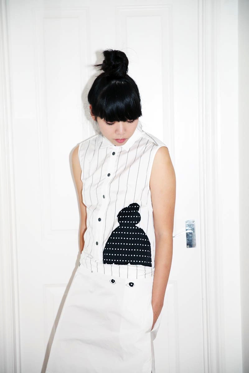 Susie Bubble wearing SS15 Capsule Collection inspired by her, designed by the artist Ivo Bisignano_ (2) - Copia