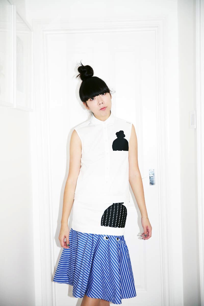 Susie Bubble wearing SS15 Capsule Collection inspired by her, designed by the artist Ivo Bisignano_ (6) - Copia