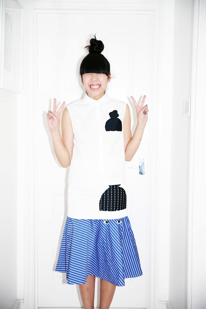 Susie Bubble wearing SS15 Capsule Collection inspired by her, designed by the artist Ivo Bisignano_ (7) - Copia